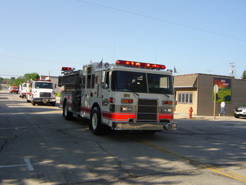 Oakfield Fire Department at Memorial Day Parade